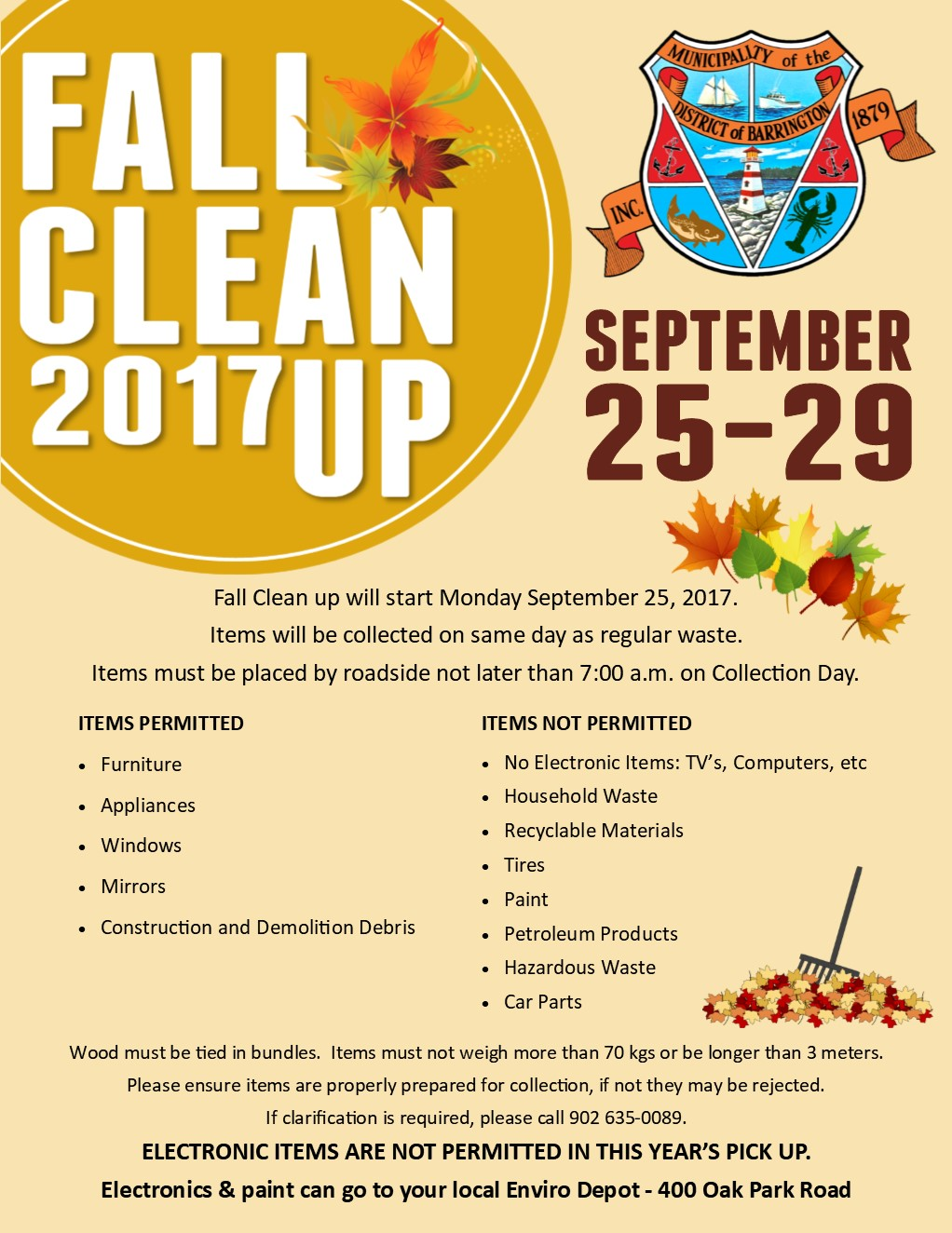Fall Clean Up Poster 2017