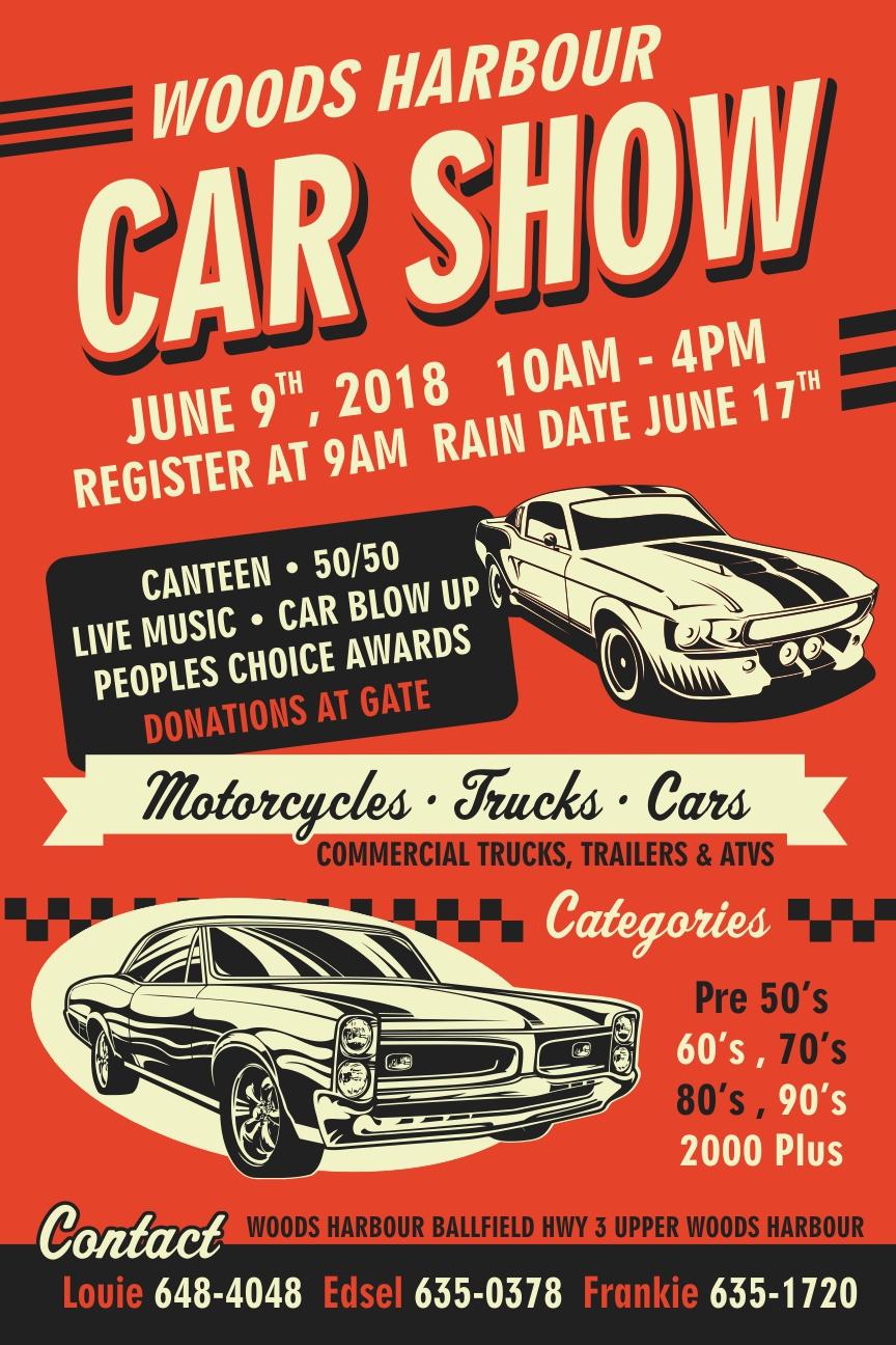 Woods Harbour Car Show - Car show award categories